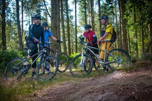 The group mtb discussion in the Surrey Hills